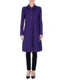 Prada Purple Coat at Yoox