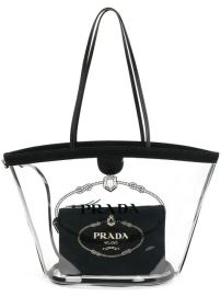 Prada Transparent Tote - Farfetch at Farfetch