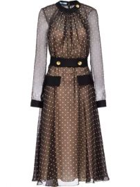 Prada semi-sheer Polka Dot Dress - Farfetch at Farfetch