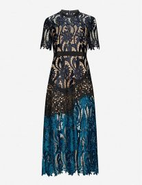 Prairie floral-embroidered midi dress at Selfridges