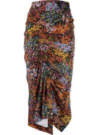 Preen By Thornton Bregazzi Aaliyah Floral Draped Skirt - Farfetch at Farfetch