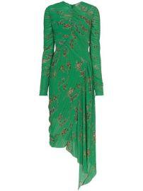 Preen By Thornton Bregazzi Teresa Micro Pleat Floral Print Dress - Farfetch at Farfetch