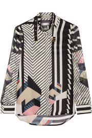 Preen by Thornton Bregazzi  Nita paneled silk-jacquard chiffon and fil coup blouse at Net A Porter