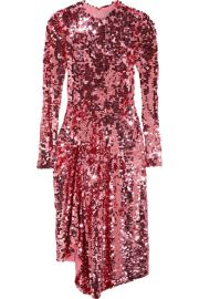 Preen by Thornton Bregazzi Carlin asymmetric sequined tulle midi dress at Net A Porter