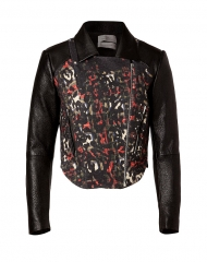 Preen leather and leopard jacket at Stylebop