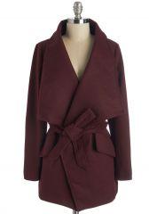 Preferred Pairing Coat in Merlot at ModCloth