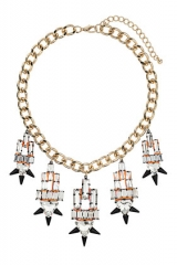 Premium crystal spike collar necklace at Topshop
