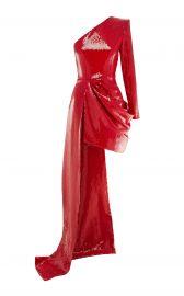 Preston Sequined One-Shoulder Asymmetrical Dress by Alex Perry at Moda Operandi