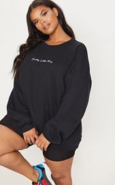 Pretty Little Thing Oversized Sweater by Pretty Little Thing at Pretty Little Thing