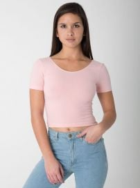 Pretty in Pink Crop Tee at American Apparel
