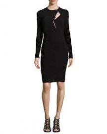 Primea Linea Long-Sleeve Wool-Blend Sheath at Neiman Marcus
