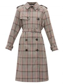 Prince of Wales-check wool trench coat at Matches