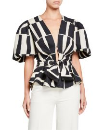 Print Cotton  Silk Poplin Top by Johanna Ortiz at Neiman Marcus