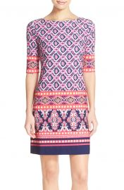 Print Jersey Shift Dress by Eliza J at Nordstrom