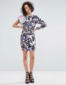 Print Ruffle Mini Dress by Asos x MTV at ASOS