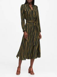 Print Utility Shirt Dress by Banana Republic at Banana Republic
