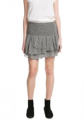 Print chiffon skirt at Mango