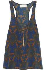 Print silk tank by ALC at The Outnet