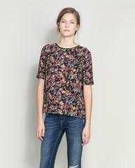 Print top at Zara