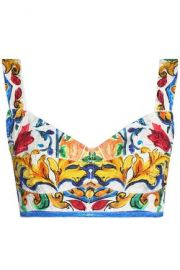 Printed bralet by Dolce and Gabbana at The Outnet
