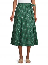 Printed A-Line Midi Skirt at Lord and Taylor