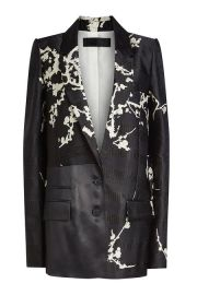 Printed Blazer with Silk at Stylebop