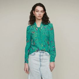 Printed Blouse with Lavaliere by Maje at Maje