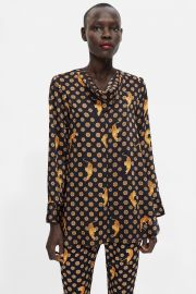 Printed Blouse with Tigers by Zara at Zara
