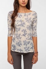 Printed Boatneck Top by BDG at Urban Outfitters