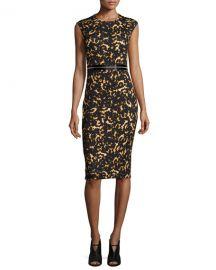 Printed Bodycon Zip Dress by Alexander McQueen at Neiman Marcus