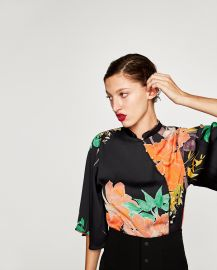 Printed Bodysuit at Zara