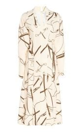 Printed Crepe Flared Midi Dress by Victoria Beckham at Moda Operandi