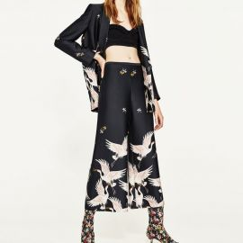 Printed Culottes by Zara at Zara
