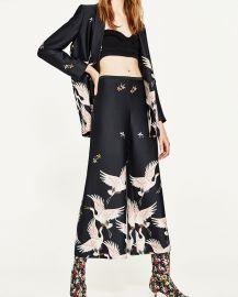 Printed Culottes x at Zara
