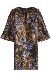 Printed Dress with Silk and Metallic Thread at Stylebop