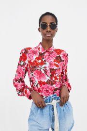 Printed Floral Shirt by Zara at Zara