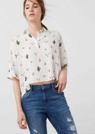Printed Flowy shirt at Mango