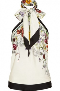 Printed Halterneck top by Gucci at Net A Porter
