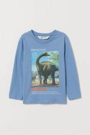Printed Jersey Shirt at H&M