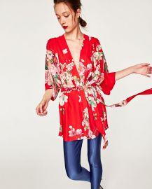 Printed Kimono Blouse by Zara at Zara