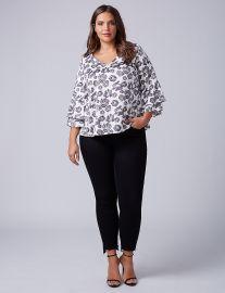 Printed Kimono Sleeve Top by Lane Bryant at Lane Bryant