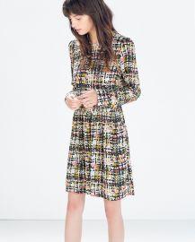 Printed Long Sleeve Dress at Zara