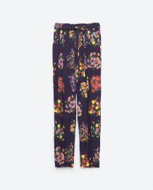 Printed Loose Fit Trousers at Zara