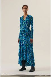 Printed Mesh Wrap Dress at Orchard Mile