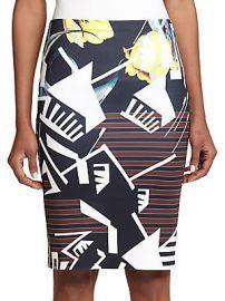 Printed Neoprene Pencil Skirt at Saks Off 5th