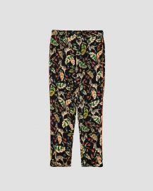 Printed Pajama Style Trousers at Zara