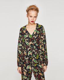 Printed Pyjama Style Shirt by Zara at Zara