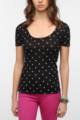 Printed Scoopneck Tee at Urban Outfitters