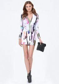Printed Scuba Dress at Bebe