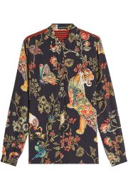 Printed Silk Blouse by Etro at Stylebop